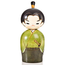 Young Samurai Japanese Warrior Kokeshi Doll