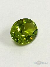 Peridot. Oval 10x8mm. 2.75 Ct. Created Gemstone Monosital. US@GEMS