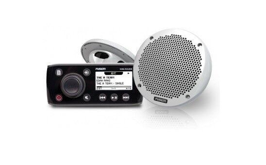 Fusion MS-RA 55 KTS Marine Radio Set Stiefel Blautooth mit Lautsprecher Stiefel Set Yacht USB 383308