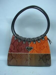 Image Is Loading Preowned Faux Snakeskin Handbag By Marco Usa