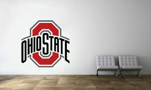 Ohio State Buckeyes Logo Ncaa Wall Decal College Football Decor Vinyl Sticker PosséDer Des Saveurs Chinoises