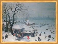 Winter Landscape with Snowfall near Antwerp van Valckenborch Belgien B A2 02829