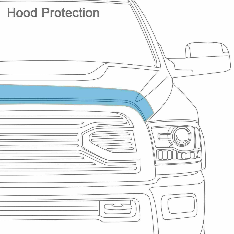 Stone// Auto Ventshade fits 07-12 Hyundai Santa Fe R Bug Deflector-Bugflector Ii