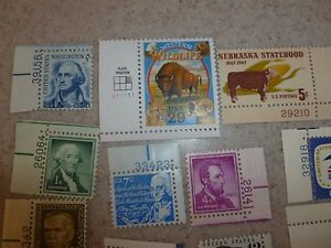 Vintage-USA-stamp-Unhinged-over-2-Face-Value-Mint-Unused-with-Plate-30-stamps