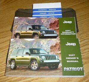 2007 jeep patriot owners manual set guide 07 w case ebay rh ebay co uk Jeep Liberty Body Parts Replacement 2002 Jeep Liberty Parts Manual