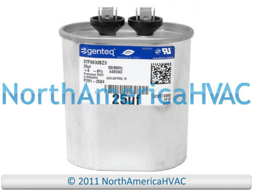 Carrier Bryant Capacitor 25 uf MFD 440 volt HC91DA025
