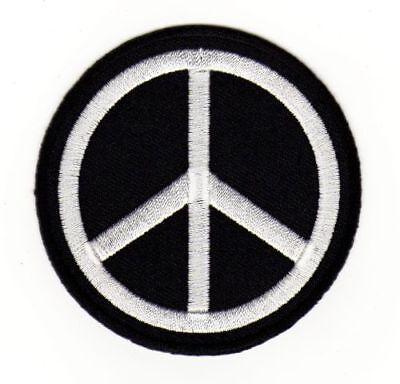 Aufnäher // Bügelbild Patch Aufbügler Applik Peace Frieden 10 x 3 cm bunt