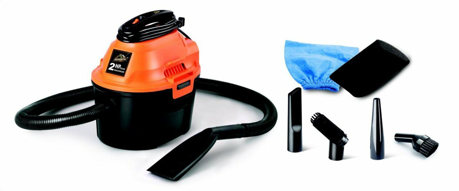 ArmorAll Wet Dry Vac 2.5 Gallon Vacuum Cleaner 2 Peak HP Portable Cleaning Car