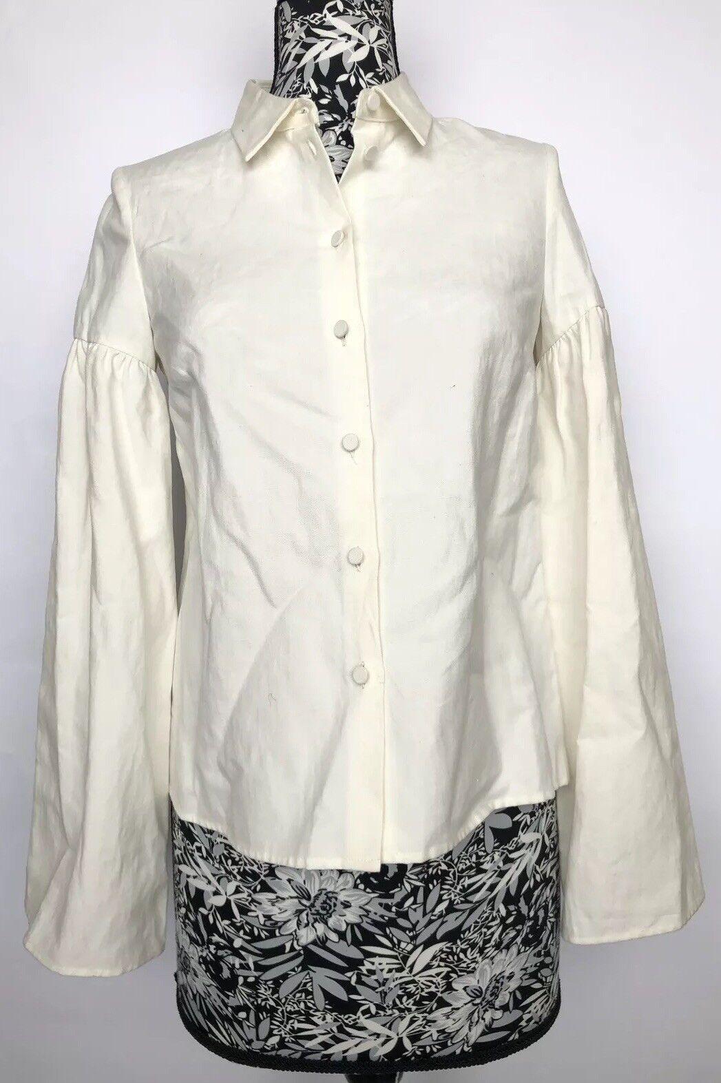 Co damen Shirt Größe S NWT Ivory Linen Cotton