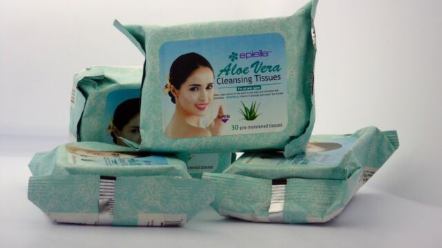 Epielle Aloe Vera Makeup Remover Cleansing Tissues - 30 Pre-moistened Tissues