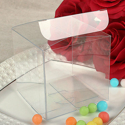 20x Clear PVC Wedding Bomboniere/Favour boxes - Bridal Party Baby Shower Gift