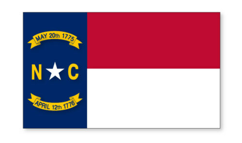 2 X North Carolina Emblème Drapeau Vinyle Autocollants Voiture Van Camion Taxi camion