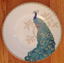 222 Fifth PEACOCK GARDEN Side Salad Plates Set Of 4 Dinnerware