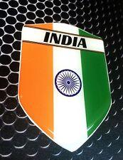 "India Proud Shield Flag Domed Decal Emblem Car Flexible Sticker 3D 2.3""x 3.3"""