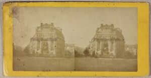 Fontana-Saint-Michel-Parigi-Francia-Foto-Stereo-PL55L1n-Vintage-Albumina-c1870