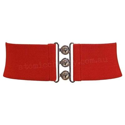 Hell Bunny Elastic Waist Cinch Belt Pin Up Retro Rockabilly Stretch