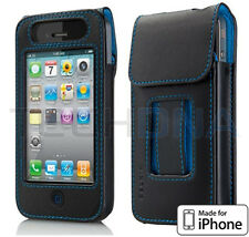Belkin Verve Black Leather iPhone 4 / 4S Case with Video Stand Kickstand Cover