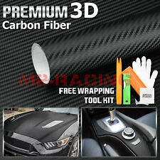 48x60 3d Matte Black Carbon Fiber Textured Car Vinyl Wrap Sticker Decal Film