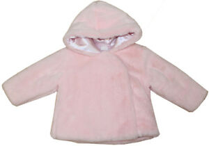 0635d50ec697 Baby Girls Spanish Style Pink Faux Fur Hooded Coat Jacket