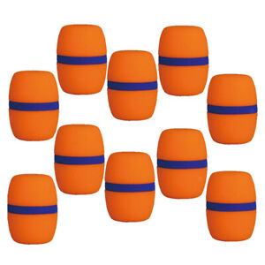 10-pcs-Handheld-Scene-Microphone-Pare-brise-Foam-MIC-COVER-KARAOKE-Orange