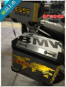 BMW Motorrad RGS Adventure Reflective Yellow Theme Box Cover - Bmw motorcycle stickers decals