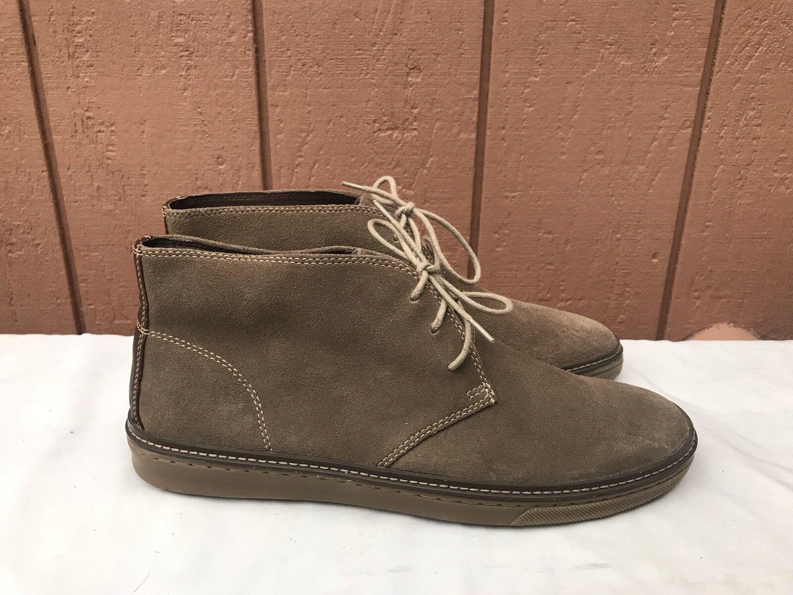 EUC Johnston & Murphy Men's Size US 11M Brown Suede Ankle Boots Lace Up