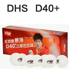 DHS New Material Seamed Ploy / Plastic  3 star D40+ table tennis ball 10pcs/box