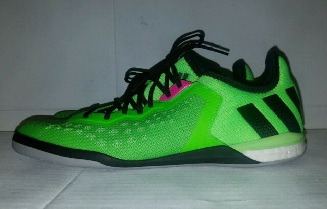 523c1aaa4 NEW ADIDAS Ace 16.1 Men s Court Indoor Soccer Shoes Solar Green Af4249 Size  12