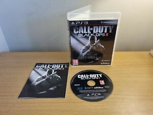 PLAYSTATION 3 - PS3 - CALL OF DUTY BLACK OPS II 2 COMPLETE WITH MANUAL FREE P&P