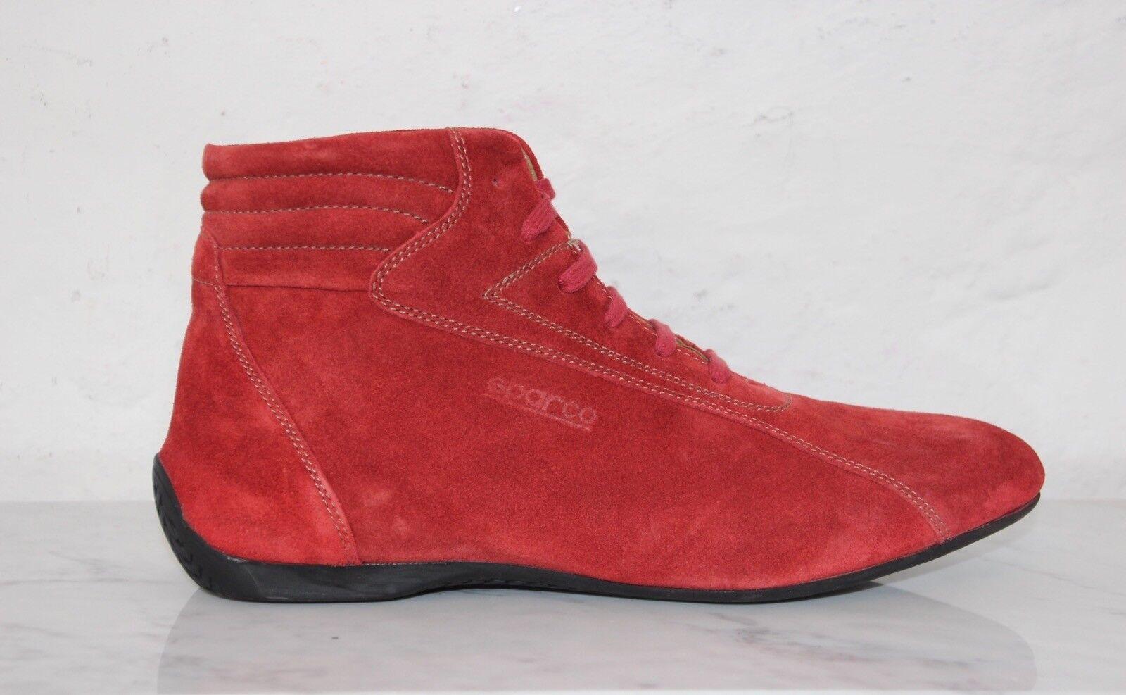 ☆ SPARCO Fahrerschuhe, Sneaker Racing Leder MONZA rot Gr. 46 OVP 169 ☆