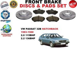 para-VW-PASSAT-32b-2-0-2-2-Hatchback-83-88-Discos-freno-Delantero-Set