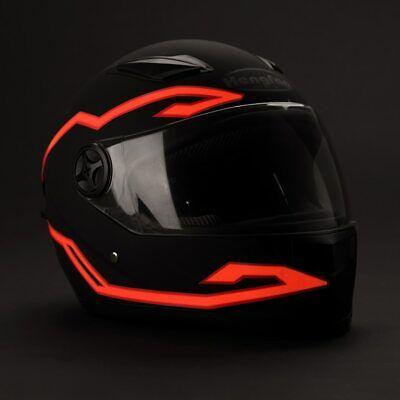 Durable Helmet Kit Flashing Stripe LED Light Motorcycle Riding Signal Waterproof