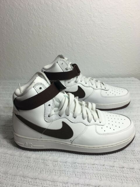 competitive price d6a9e b9266 NIKE AIR FORCE 1 HI RETRO QS WHITE CHOCOLATE BROWN MEN SIZE 11 NEW 743546