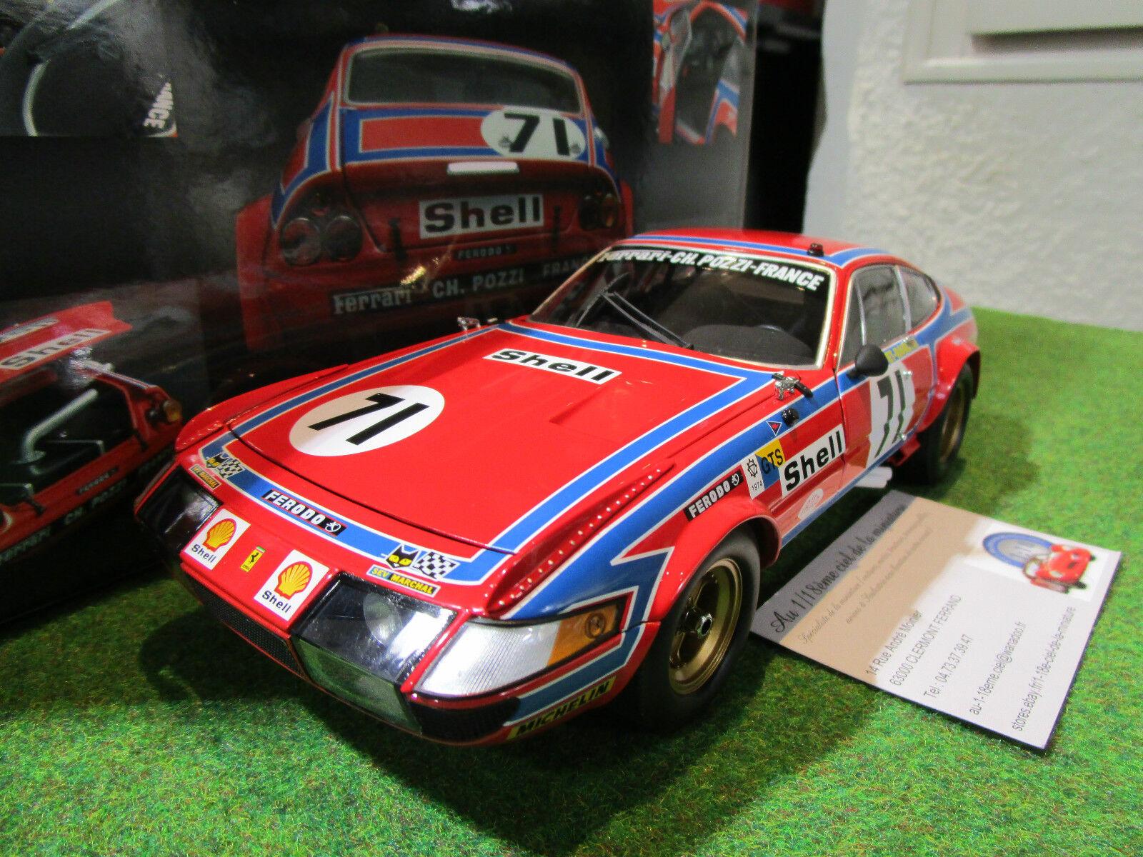 FERRARI 365 GTB4 DAYTONA  71 LE MANS 1974 a 1 18 KYOSHO 08164A voiture miniature