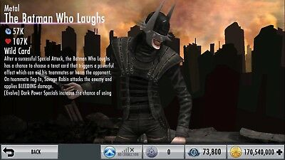 Injustice Gods Among Us Android And Ios Metal The Batman Who Laughs Ebay