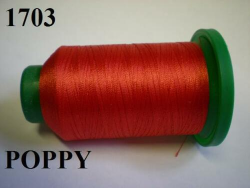 ISACORD MACHINE EMBROIDERY THREAD 1000M RED POPPY 1703