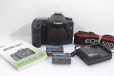EXC++ CANON EOS 50D DIGITAL SLR BODY, 2BATTS, CHARGER, MANUAL, STRAP, 19,080ACTS