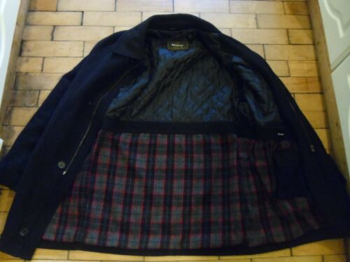 Car Lining Coat Black Wolsey Wool Cashmere Dark trapuntato Grey M Tartan Pq7R1