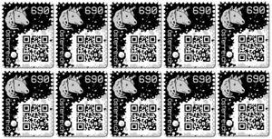 10 x CRYPTO STAMP BLACK / SCHWARZ ★★★★★ ORIGINAL | NEW / NEU | MINT / POSTFRISCH