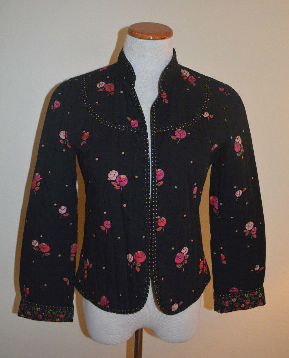"""4 Anthropologie Rose """"Calico Quilted Jacket""""  - image 4"""