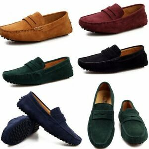 US-Men-Driving-Moccasin-Casual-Suede-Leather-Slip-On-Shoes-Loafer-Flat-Casual