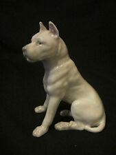 VERY RARE GERMAN  HEUBACH PORCELAIN GREAT DANE DOG c1895