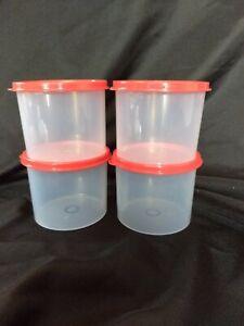 600mil New !!!! Tupperware Mini Canisters Container Aqua Set of 2 20 Oz