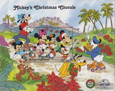 Walt-disn Waren Des TäGlichen Bedarfs Antigua Und Barbuda Block150 kompl.ausg. Postfrisch 1988 Micky Maus