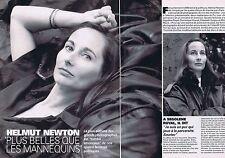 Coupure de presse Clipping 1995 Helmut Newton Royal Guigou Voynet  (4 pages)