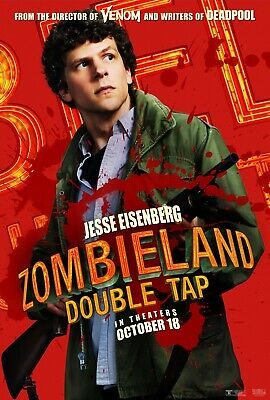 ZOMBIELAND 2 DOUBLE TAP WOODY HARRELSON FILM POSTER Film Repro Poster Print