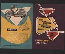 MÜNCHEN, Prospekt 1956, Zündapp- Werke GmbH Motorrad Moped 175S 200S BellaR153