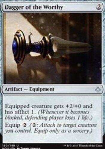 English Hour of Devastation MTG Magic 4x Dagger of the Worthy NM-Mint