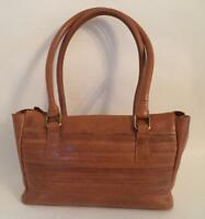 BROWN MARKS & SPENCER LEATHER SHOULDER BAG HANDBAG