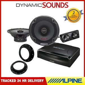 Details about ALPINE Under Seat Active Subwoofer & 480W Door Upgrade  Speaker Kit for VW T5 T6